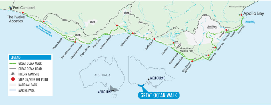 Great Ocean Walk mud map
