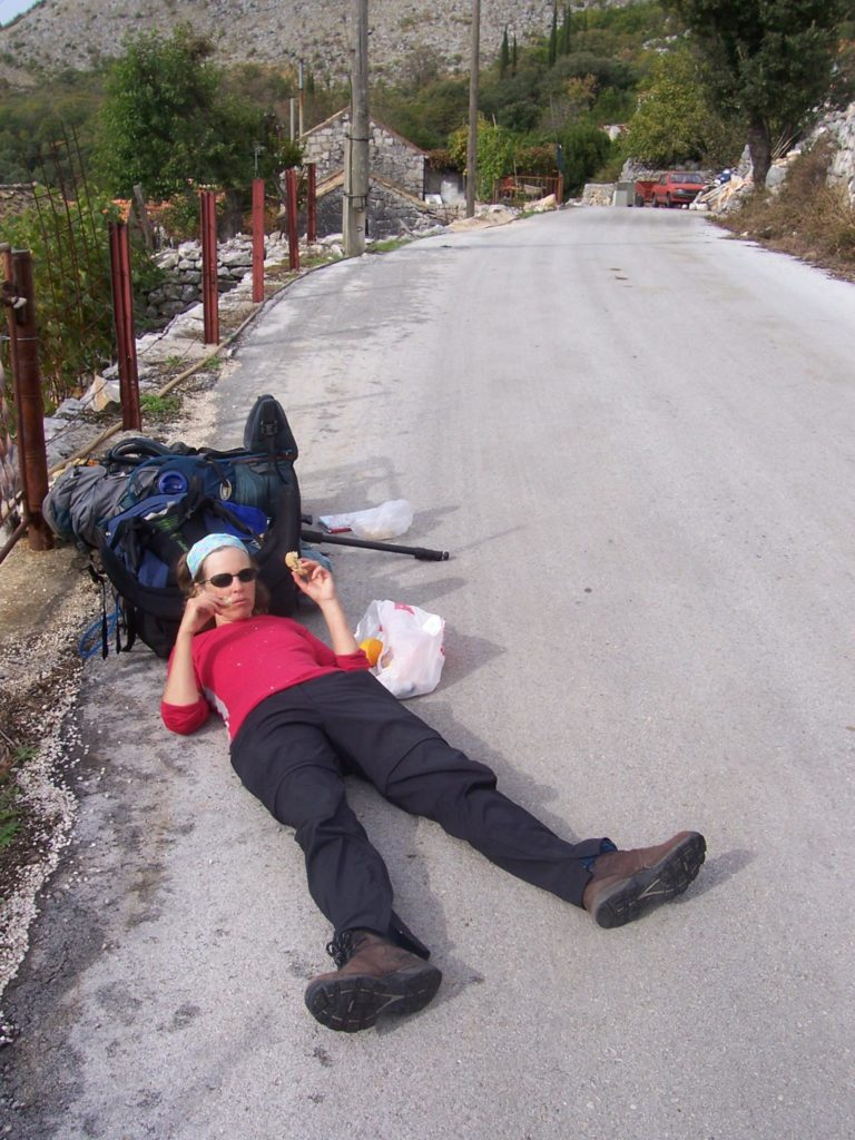 Stephanie Dale flat out on pilgrimage