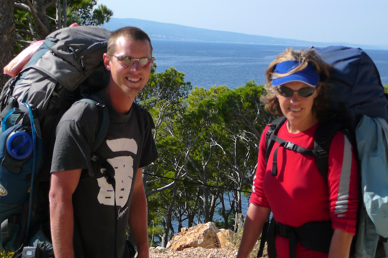 Stephanie Dale and Ben Dale on pilgrimage through Croatia